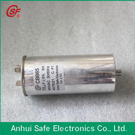 High Quality RoHS Cbb65 Sh Capacitor 50UF Air Conditioner Capacitor