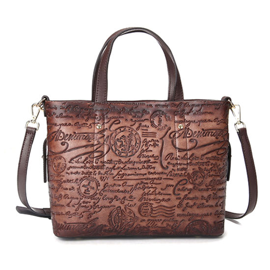 China Factory OEM Luxury Designer Bag Genuine Cow Hide Leather Leisure Bag for Women pictures & photos