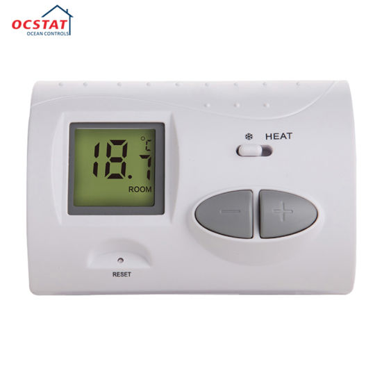 China HVAC Parts LCD Digital Gas Boiler Wired Room Thermostat ...