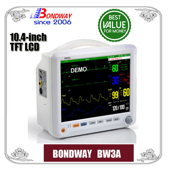 10.4-Inch TFT LCD Medical Patient Monitor, Multi Parameter Vital Signs Monitor