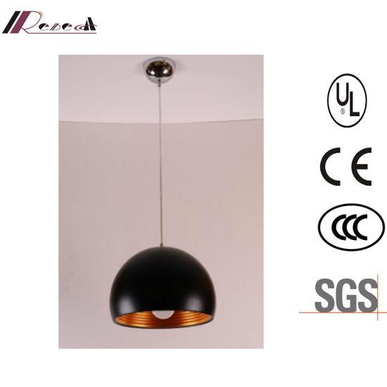 Modern Black Resin Pendant Light for Hotel Project