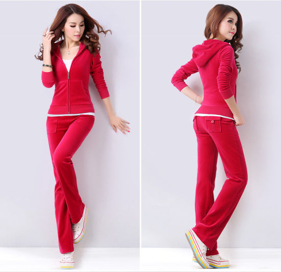 Pure Color One Set Fashion Sportswear Clothing for Woman