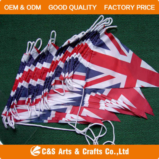 OEM Printing National Advertising Pennant Strings Flag pictures & photos