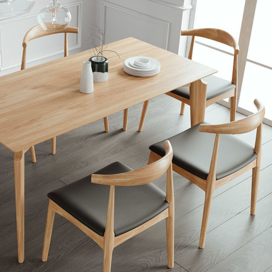 Modern Mdf Wood Oak Kitchen Rectangle Dining Table Set China Oak Dining Table Oak Table Made In China Com