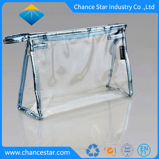 Custom Plastic PVC Printed Stand up Ziplock Cosmetics Bag
