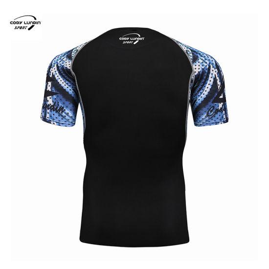 Cody Lundin Wholesale Cheap Custom Compression T-Shirt Blank Rash Guard
