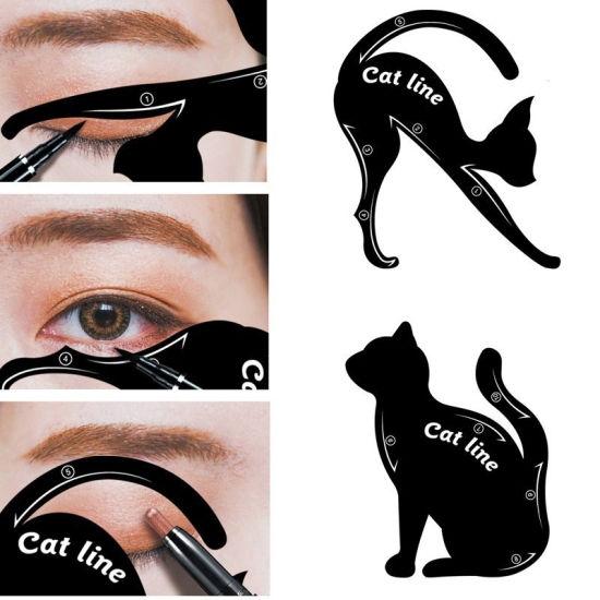 2 PCS/Set Cat Line Stencils Eye Makeup Set Women Eye Eyeliner Model Tool