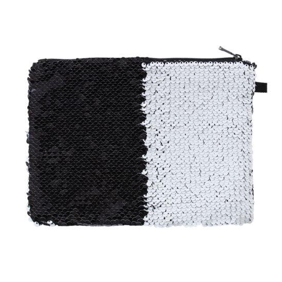 Sublimation Custom Black Cosmetic Bag