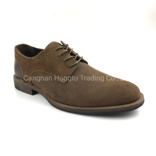 Big Size Men Oxfords Formal Wedding Cow Suede Shoes pictures & photos