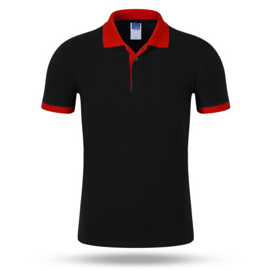 Custom Logo Fashion Contrast Color Collar Polo T Shirt, Wholesale Men Rugby Polo Shirt Uniform