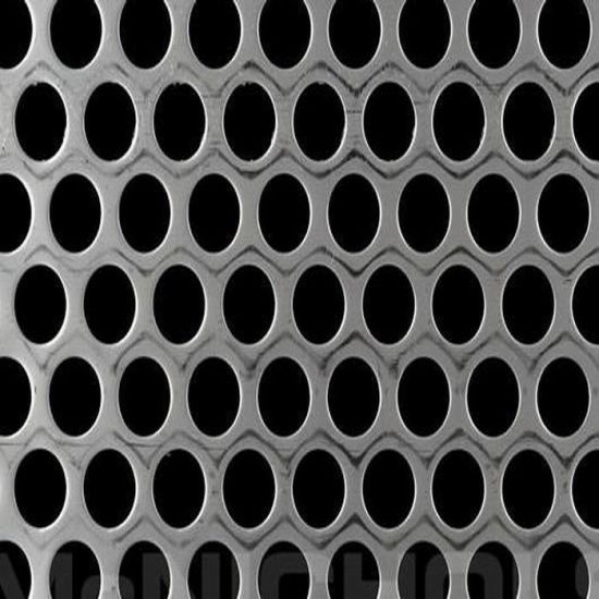 Round Hole Perforated Stainless Steel Metal Sheet Filter Mesh Photo Etching Chemical Punching Mesh for Water/Oil/Air Filtration