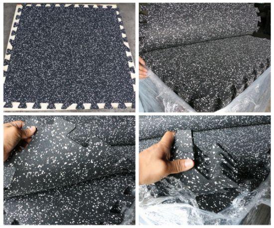 Gym Rubber Flooring EPDM Dots Interlcoking Rubber Mats