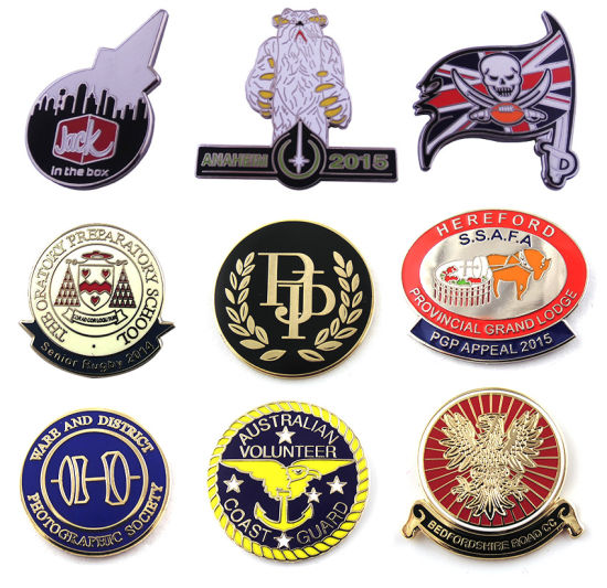 Custom Metal Badge, Hard/Soft Enamel Lapel Pin with Logo pictures & photos