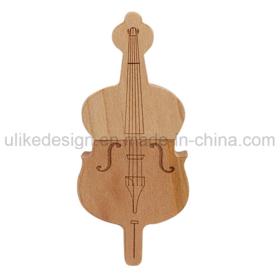 Guitar Shape Wooden Souvenir Giving Gift USB Flash Drive/USB Pen Drive/USB Stick