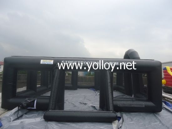 Outdoor Black Inflatable Football Arena Court Pitch for Sale pictures & photos