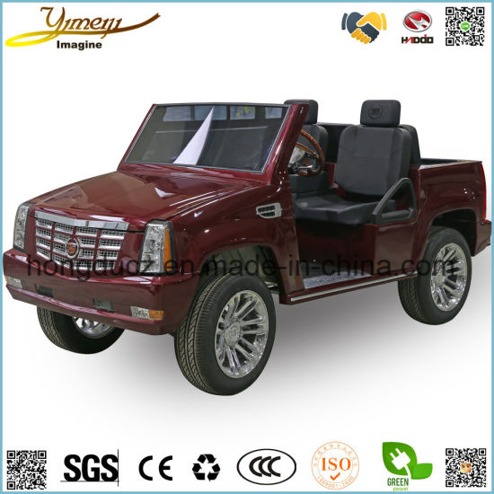 4WD Green Power Electric SUV Car 4 Seats Golf Cart Cadillac Vehicle pictures & photos