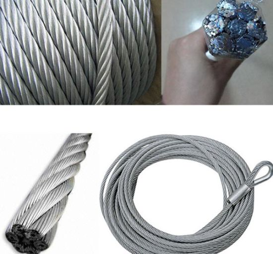 High Tensil Lifting Stainless Steel Wire Rope pictures & photos