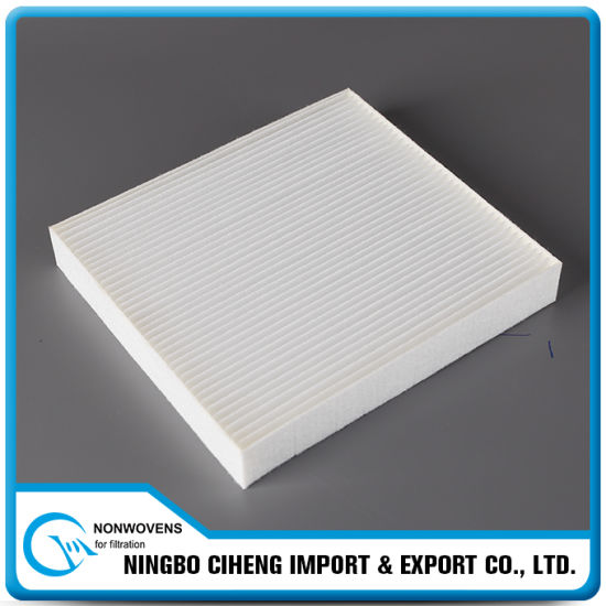 Pleated Wet Laid Pet Polyester Nonwoven Fabric for Air Filter