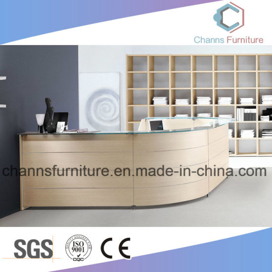 Modern Curved Wooden Desk Reception Table Office Furniture