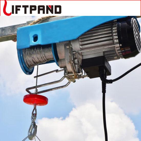 Hands Free Upper & Lower Limit Device Emergency Stop Double Hooks Electric Hoist