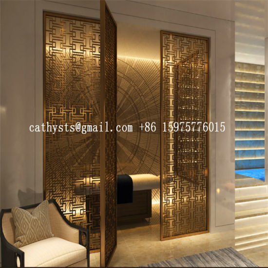 Interior Design Partition Wall Stainless Steel Panel Metal Screen Bronze  Finish On Sale