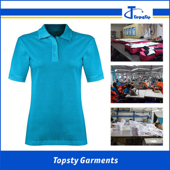Short Sleeve Plain Basic Male Polo Shirt Cotton Lady Polo Shirts