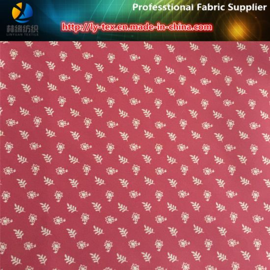 Polyester Twill Soft Nap Printing Fabric for Men Shirts (LEAF & FLOWER)