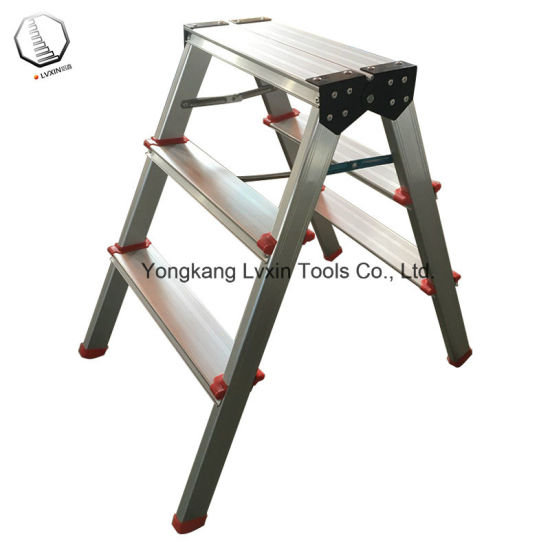 Remarkable 2 3 Steps Aluminium Step Stool Ladder Alphanode Cool Chair Designs And Ideas Alphanodeonline
