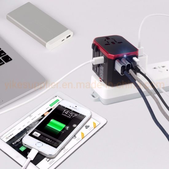 3USB+Type C Travel Adapter 3.4A Universal Power Adapter Charger Adaptor Converter