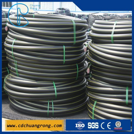 Gas Supply HDPE Pipe Size and Dimensions pictures & photos