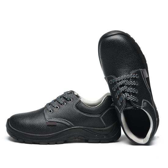 Injection Safety Shoes with Embossed Leather