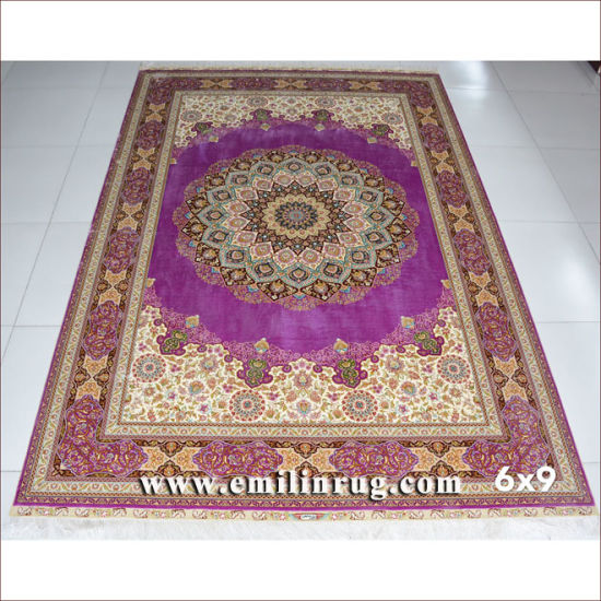 Hand Knotted Persian Pure Silk Rugs