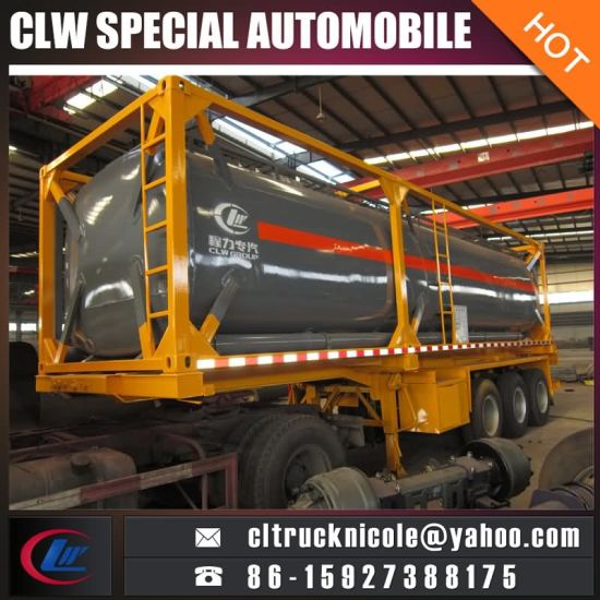 20FT ISO Chemical Storage Tank for HCl or Naoh