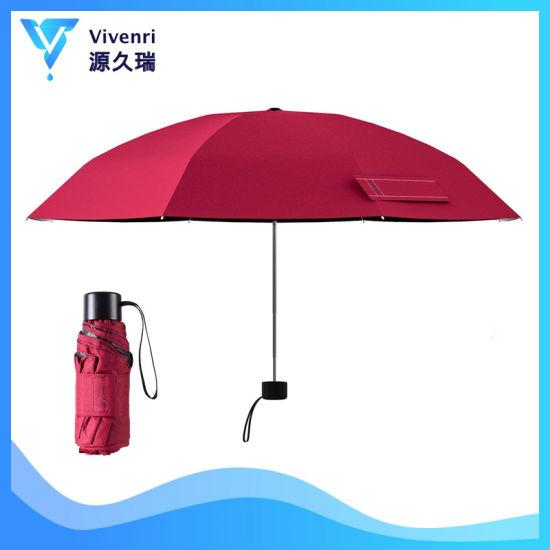 Small Mini Folding Umbrella, Travel Umbrellas, Pocket Umbrella, Gift Promotion Umbrella for Lady