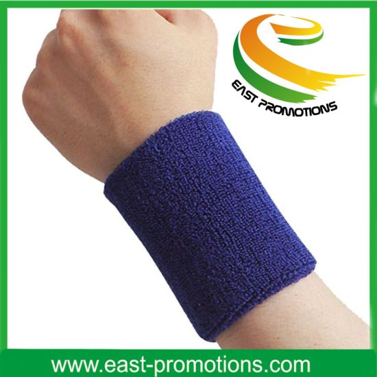 2017 Sports Terry Cloth Cotton Wristband Custom Sweatband pictures & photos