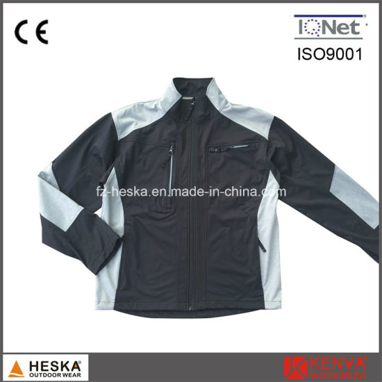 Color Contrast Work Equipment Softshell 3layer Jacket pictures & photos