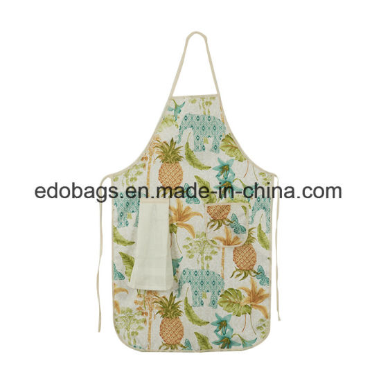 Wholesale 100% Polyester Cheap Kitchen BBQ Printing Apron pictures & photos