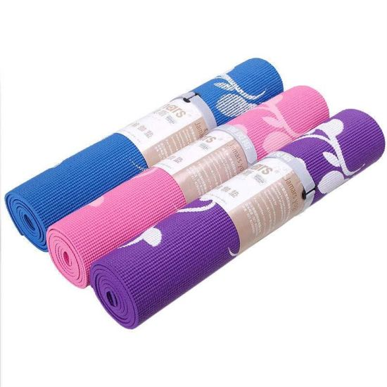 Customized Logo Colorful 4-10mm Thickness PVC Yoga Mat (biodegradable)