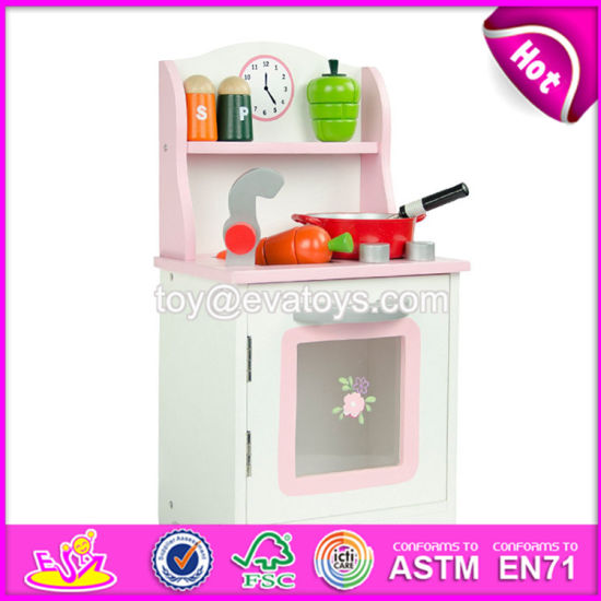 60bf27de0c53 China New Products Children Cooking Set Wooden Pink Play Kitchen ...
