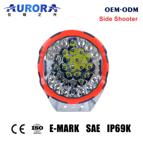 China Factory Directly Wholesale 12V 24V Round Offroad Auto LED Work Light Headlight Driving Light