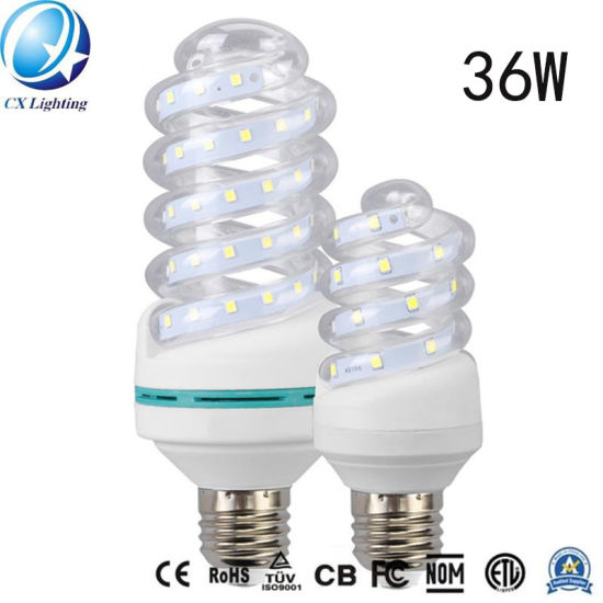 36W E27 Glass Spiral LED Energy Saving Lamp