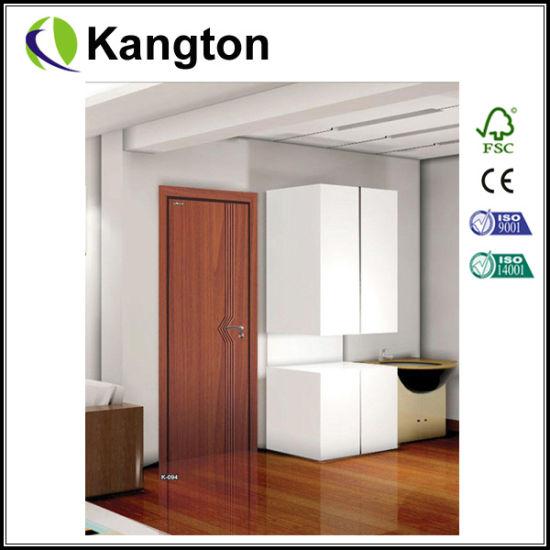 Eco Friendly Free Paint Interior PVC Door (PVC Laminated Door)