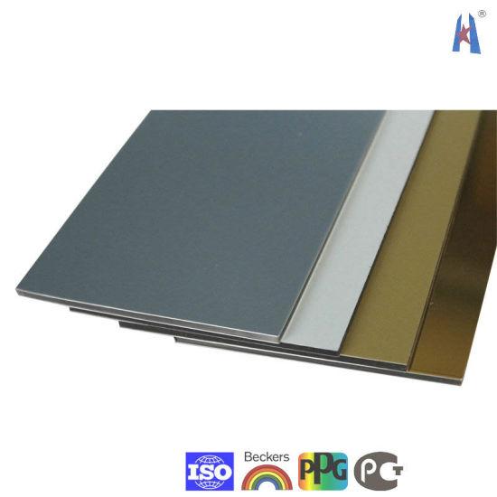 China 4mm/0.3mm PVDF Nano Aluminum Plastic Composite Panel
