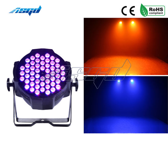 Aluminum Alloy LED PAR 54X3w RGB 3in1 LED PAR Can PAR 64 LED Spot Light DJ Projector Wash Lighting Stage Lighting Asgd pictures & photos