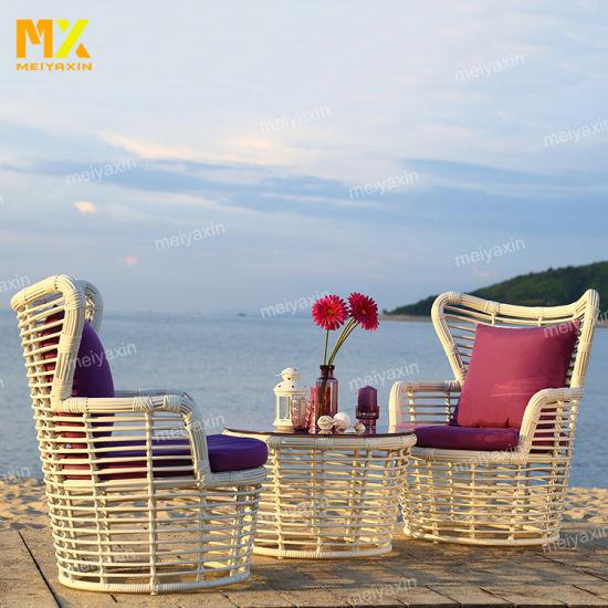 Myx Outdoor Garden Furniture White Rattan Sofa Set (accept customized)