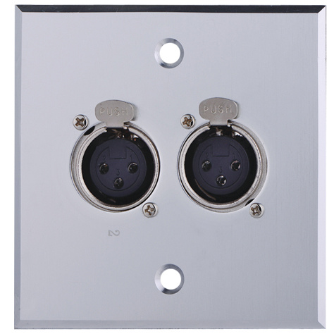 Aluminum XLR Wall Socket, Face Plate (9.2036)