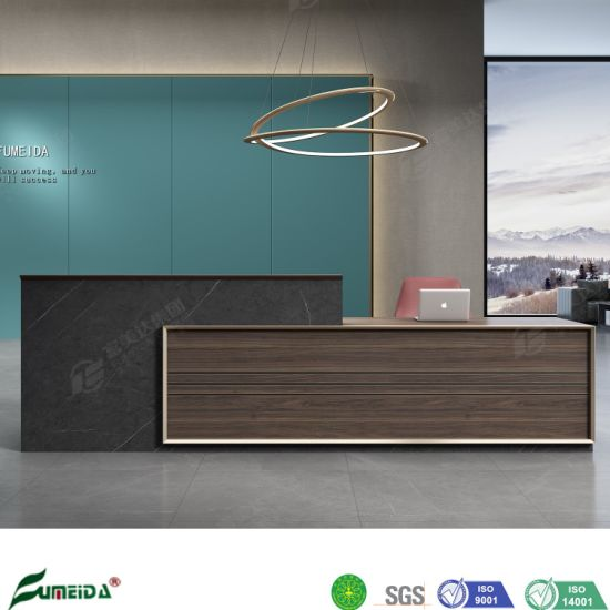 Chinese Factory Modern Furniture Melamine Executive Reception Table for Office