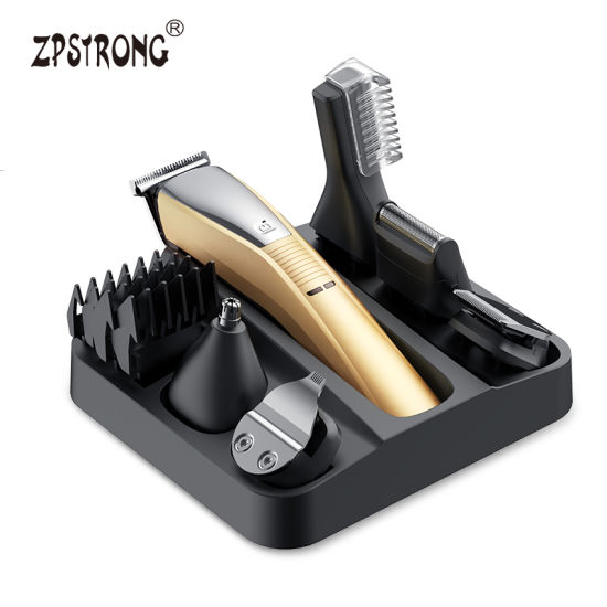 6 in 1 Men Grooming Kit Rechargeable Hair Trimmer Set Electric Beard Trimmer