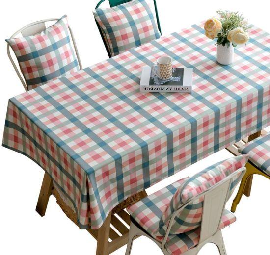 High Quality Plaid Cotton Table Cloth