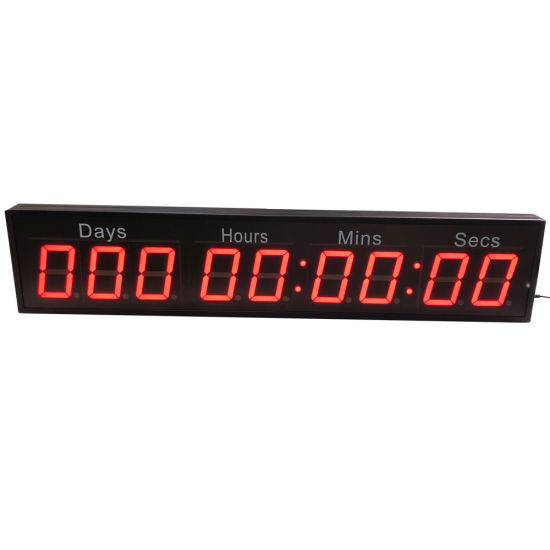 """Programmable Red 2.3"""" 9 Digit LED Digital Countdown Timer Clock"""